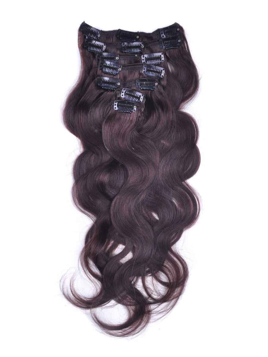 18 7 Piece Body Wave Clip In Indian Remy Human Hair Extension